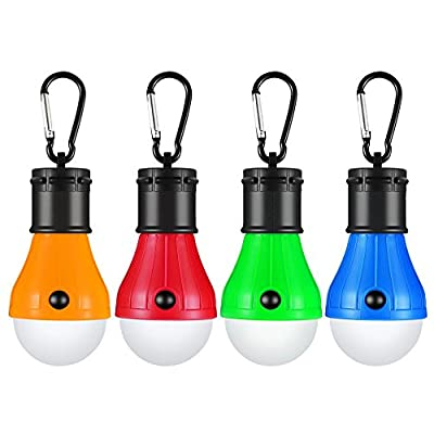 Vdealen LED Tent Lamp, Camping Lantern Lamp Emergency Light Battery Powered Waterproof Portable Bulb for Hiking Fishing Camping Household Car Repairing from Vdealen