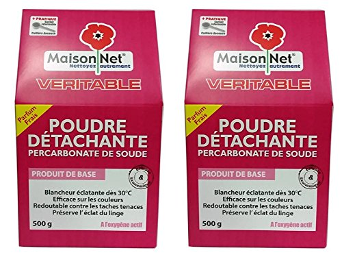 Maison Net Poudre Détachante Percarbonate de Soude 500 g - Lot de 2
