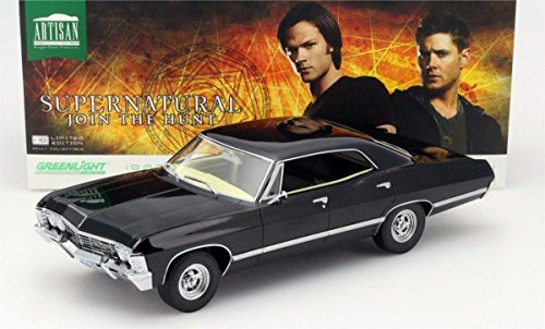 greenlight-118-collection-supernatural-1967-chevrolet-impala-ss-ohio-plate-19014-by-greenlight