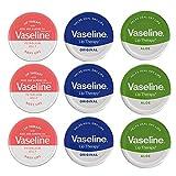 Vaseline Lip Balm Vaseline 20g, 3 Orginal, 3 Rosige Lippen & 3 Aloe Vera
