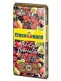 Floragard Bio-Erde BeerenObst ohne Torf 20 L • Spezialerde mit Kompost • für Erdbeeren, Brombeeren, Stachelbeeren, Säulenobst • mit Bio-Dünger • aus natürlichen Rohstoffen • torffrei
