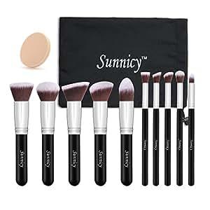 kit de pinceau maquillage professionnel 10pcs ombre paupi re blush fondation pinceau poudre. Black Bedroom Furniture Sets. Home Design Ideas