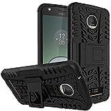 Dream2Cool Rugged Hard Back Cover Kickstand Armor Case For Motorola Moto C (Black)
