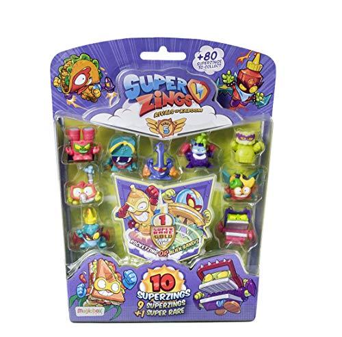 Superzings - Serie 5 - Blister 10 figuras ( 1 figura dorada Super Rare)