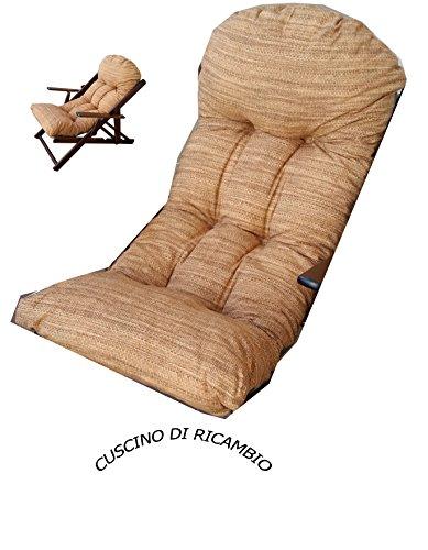 Liberoshopping Coussins Coussin Super rembourré de Rechange pour Fauteuil Chaise Longue Relax Tissu Coton Couleur Sable