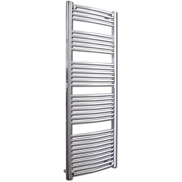 Towel Rail Radiators 600 mm Length Curved Chrome 25 mm