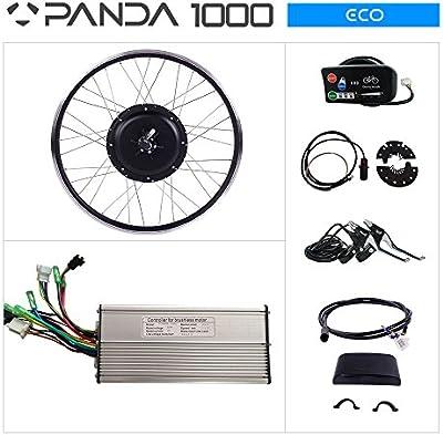 panda-1000Eco bicicleta eléctrica Kit: 48V 1000W motor, pantalla LED 26
