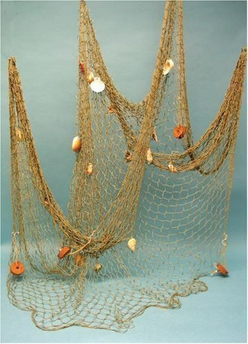 Nautical Decorative Fish Net Pack with Shells and Cork by TBI Cork Pack