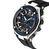 Fenkoo Herren Sportuhr / Militäruhr / Smart Uhr / Modeuhr / Armbanduhr digital / Japanischer QuartzLED / Chronograph / Wasserdicht / Duale