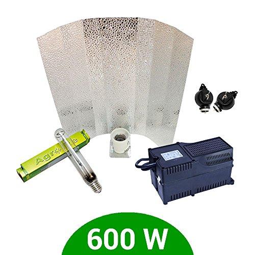 Kit iluminación 600W SHP Agrolite + Balastro Agrolite