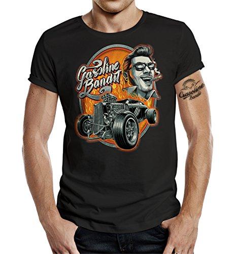 GASOLINE BANDIT® Hot Rod Biker T-Shirt: Rockabilly-XL