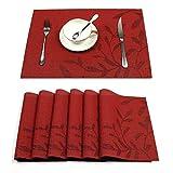 Pauwer Tisch-Platzmatte, 6er Set Esstisch-Platzmatten, Rutschfeste
