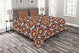 Abakuhaus Türkisch-Muster Tagesdecke Set, Bold Floral, Set mit Kissenbezügen Moderne Designs, für Doppelbetten 220 x 220 cm, Mehrfarbig
