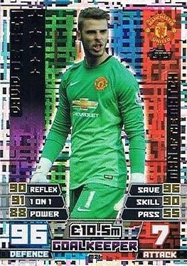 Preisvergleich Produktbild Match Attax Extra 2014/2015 David De Gea (Manchester United) Man Of The Match 14/15