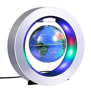 Globo magnético, gira del mapa del mundo, para los niños regalo decoración del escritorio de la oficina en el hogar 4 pulgadas