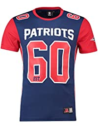 Majestic T-Shirt – NFL New England Patriots Dene Poly Mesh Blue red 8cf9d21cc