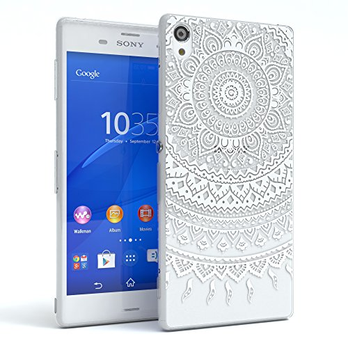 "Sony Xperia Z1 Compact Hülle - EAZY CASE Slimcover ""Clear"" Handyhülle - Schutzhülle als Smartphone Case in Schwarz / Anthrazit Henna Weiß"