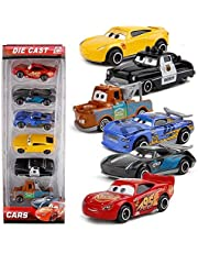 METRO TOY'S & GIFT CARS3 Diecast Metal Lightning McQueen Black Storm Jackson Cars Toys for Boys -Set of 6