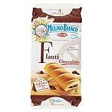Mulino Bianco Merendine Flauti al Cioccolato, Snack Dolce per la Merenda - 280 gr
