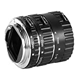 Neewer Auto Focus Macro Extension Tube Set for Canon EOS Mount Cameras 700D/T5i 650D/T4i 600D/T3i 1100D/T3 550D/T2i 500D/T1i 100D/SL1 400D/XTi 450D/XSi 300D/Digital Rebel 20D 30D 60D 5D Mark III 5D Mark II etc