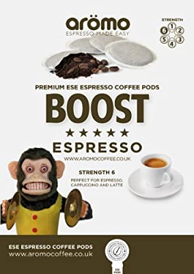 Aromo 'BOOST' - ESE Coffee Pods 44mm - Premium Espresso Pods - 100 Pk