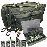 Generic 6Köder Set Karpfen Angeln groß Reisetasche Holdall Tackle Bag + Tackle Box & termial Tackle Set 1x Stringer Nadel Tackle Box Set < 1& 1437* 1></noscript>