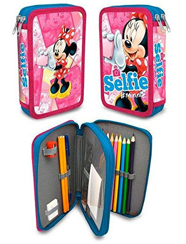 Plumier doble de Minnie Mouse