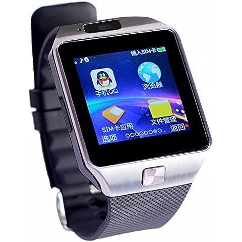 Colofan C05-Orologio Bluetooth Smart-Orologio unisex con Touch Screen, per IOS, Android, Iphone, Samsung, Smartphone, colore: argento