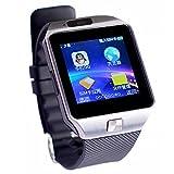 Colofan C05 luxe Bluetooth montre Smart Watch Phone montre-bracelet avec ¨¦cran tactile pour IOS Android Smartphone Iphone Samsung Smartphone (argent)
