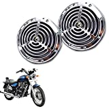 #5: Vheelocityin Small Size Silver Grill Horn for All Bike/ Scooter (Set of 2) For Royal Enfield Thunderbird