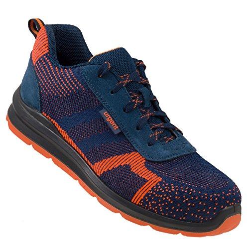 Arbeitsschuhe Sicherheitsschuhe Schuhe Stahlkappe URGENT 232 S1 Orange Dunkelblau TOP NEUHEIT ! (45 EU)