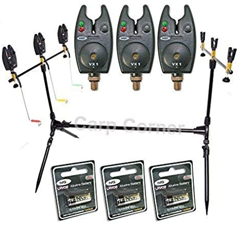 Conx2 Adjustable Triple Rod Pod with Swingers. Perfect for Carp & Coarse fishing.