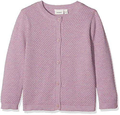 NAME IT Baby-Mädchen Strickjacke Nbfermya LS Knit Card, Rosa (Dawn Pink Dawn Pink), 62