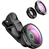 TaoTronics 3 En 1 Universal Kit De Lentilles Objectifs Professionnels Mobile ( Fisheye Clip-On 180°/ 10X Macro / 0,4X Grand Angle )
