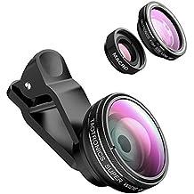 TaoTronics TT-SH014 Fisheye Objektiv Clip-On Kamera Adapter für Smartphones (180 Grad Fisheye Objektiv, 10x Macro Objektiv, 0,4x Weitwinkelobjektive)