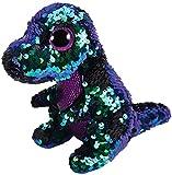 Ty–flippables–Peluche de Lentejuelas (Crunch el Dinosaurio