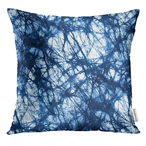 Throw Pillow Cover Navy Camoflauge Blue Urban Large Camo Pattern White Camouflage Water Decorative Pillow Case Home Decor Square 18x18 Inches Pillowcase