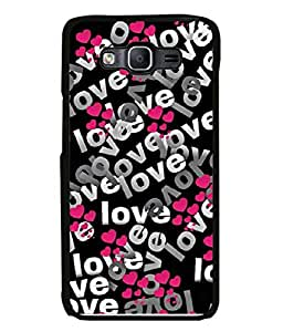 PrintVisa Designer Back Case Cover for Samsung Galaxy E7 (different shades of love heart)