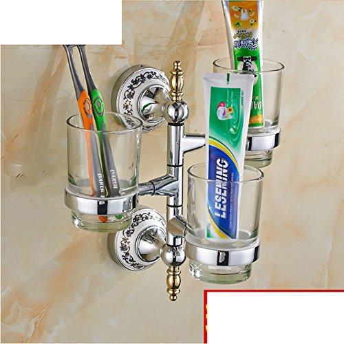 porte-gobelet de brosse à dents Continental/ Golden Soseki/ Verre porte-gobelet rotatif/Bleu et blanc porte-gobelet en porcelaine Salle de bains Activités-H