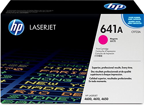 HP 641A (C9723A) Rot Original Toner für HP Color Laserjet 4600, HP Color Laserjet 4650 (Hp Laserjet 4600n Toner)
