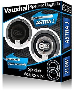 Porte avant pour Vauxhall Astra J Orateurs FLI Haut-parleurs de voiture haut-parleur + Adaptateurs 210W de Vauxhall