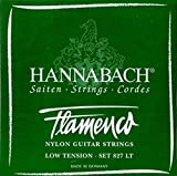 Cuerdas guitarra flamenca-Hannabach (827/LT) verde suave (Juego completo)