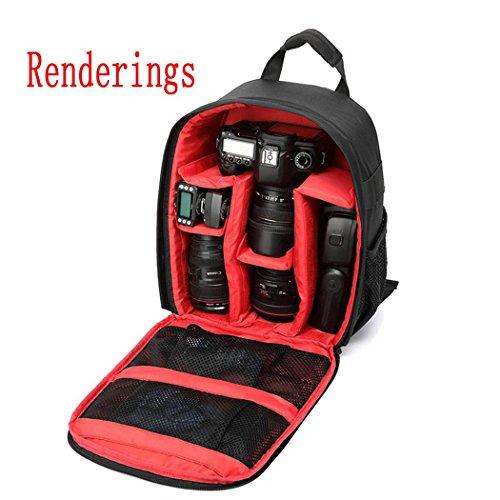 XY-QXZB Strumenti fotografici Zaino, Intervallo spaziale professionale e grande capacità per fotocamera digitale SLR Camera Bag , Red