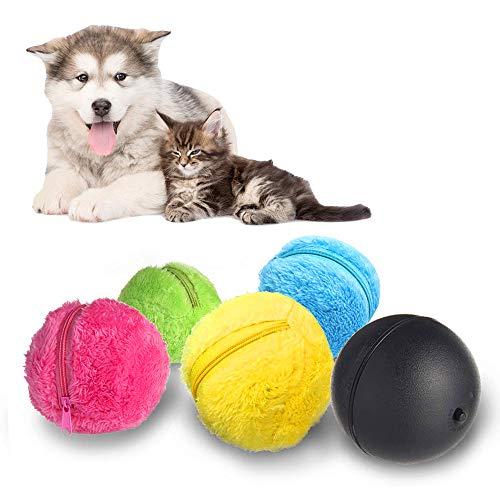 Vegena Automatischer Rollender Ball Elektrische Spielzeug Ball für Hund, Mini Roboterreiniger Hunde Intelligenz Spielzeug Ball, Elektrischer Angetriebener Sauberer Haushalts Microfiber Ball -