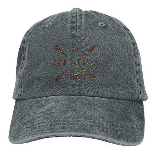 uykjuykj Baseball Caps Hats Funny Bag OPS Eat Sleep River Kayak Adult Sport Baseball Cap Cowboy Hat Adjustable Unique Personality Cap Baseballmütze