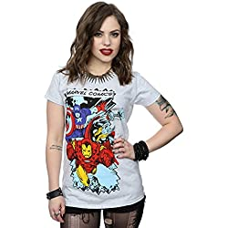 Marvel mujer Comic Characters Camiseta Large cuero gris