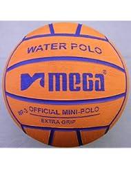 Water Polo Ball. Mega. Diseño en color naranja. Tamaño 3. mini-polo