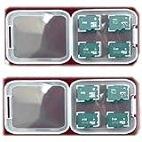 Emballage 2x ou le stockage des cartes mémoire / mini-cas pour quatre MicroSD ou MicroSDHC cartes mini carte mémoire cas / bijou carte de boîte de cas MicroSDXC / A - Grade