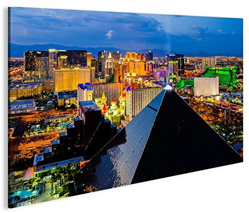 islandburner Bild Bilder auf Leinwand Las Vegas V4 Luxor 1p XXL Poster Leinwandbild Wandbild Dekoartikel Wohnzimmer Marke -