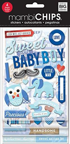 Unbekannt Me & My Big Ideas Mambi Chips Sweet Baby Boy Scrapbooking Supplies -